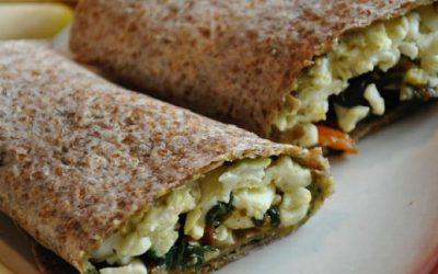 Spinach & Egg White Wraps