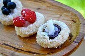 No Bake Thumbprint Cookies