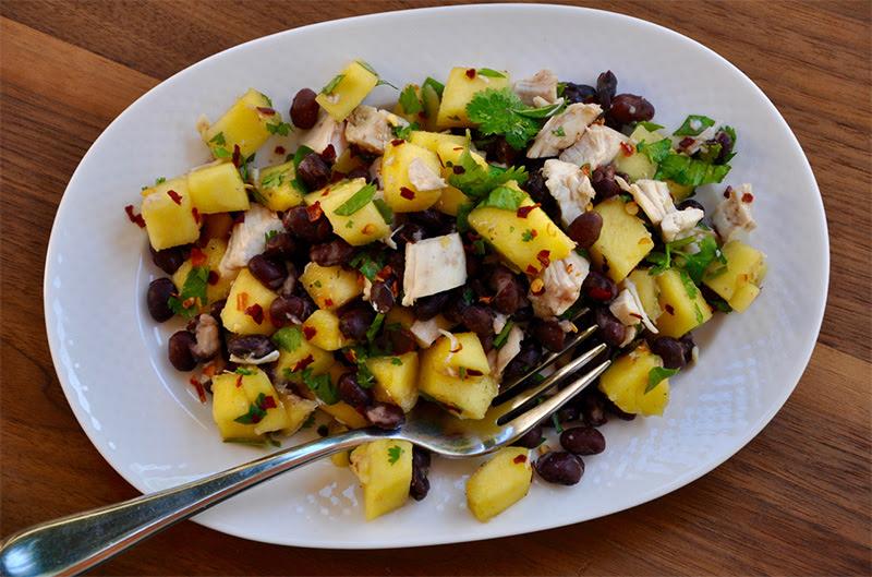 Mango and Black Bean Chicken Salad