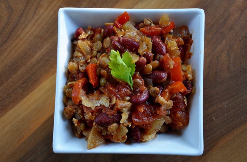 Red Bean and Lentil Casserole